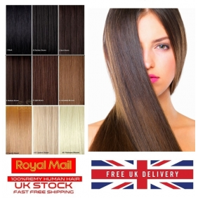 "UK Stock 5A Quality 14""-24"" Tape In Human Hair Extensions 30gr-70gr 31 Colors"